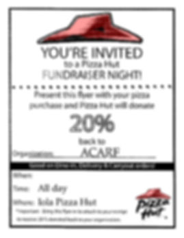 ACARF pizza hut fundraiser flyer templat