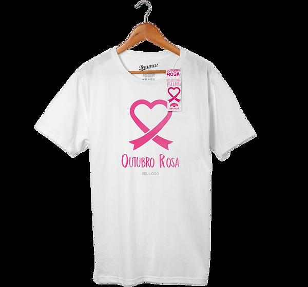 Camisetas Personalizadas Outubro Rosa, faça e ganhe uma bandeira!