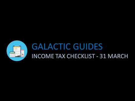 Tax checklist before 31 March