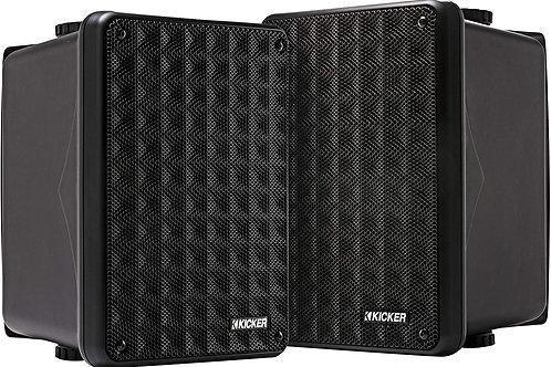 KICKER KB6 2-Way Full Range Indoor Outdoor Speakers