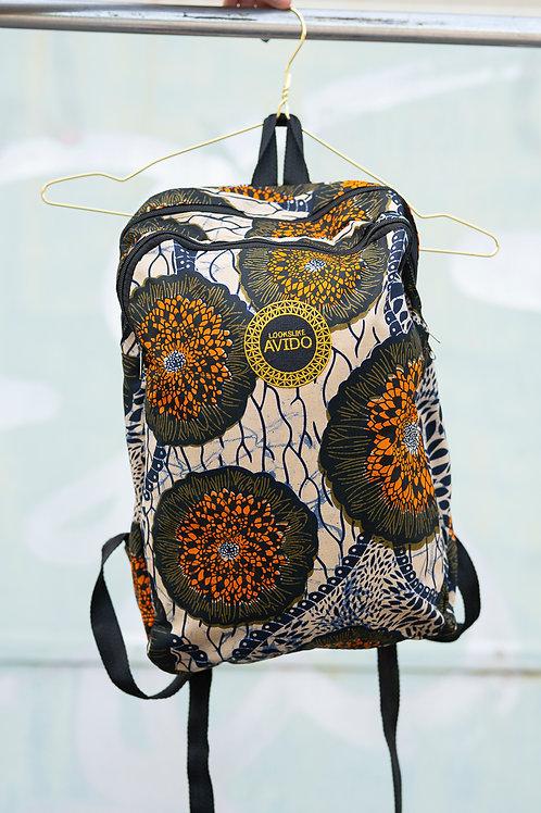 Backpack - orange & black