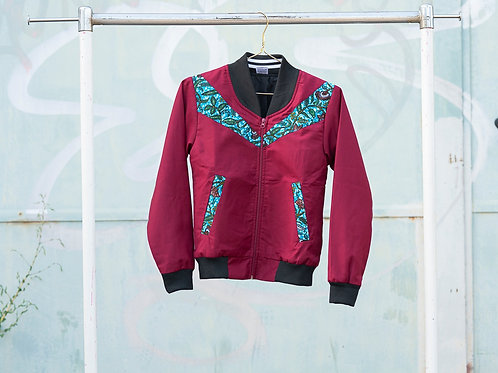 Blouson XS - maroon with blueish applications