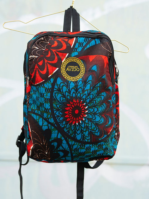 Backpack - red & blue