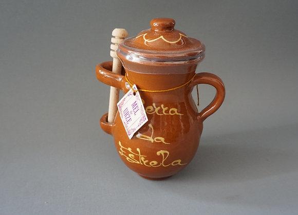 Pote de mel c/ colher madeira