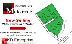 Melcoffe Ind Park signage