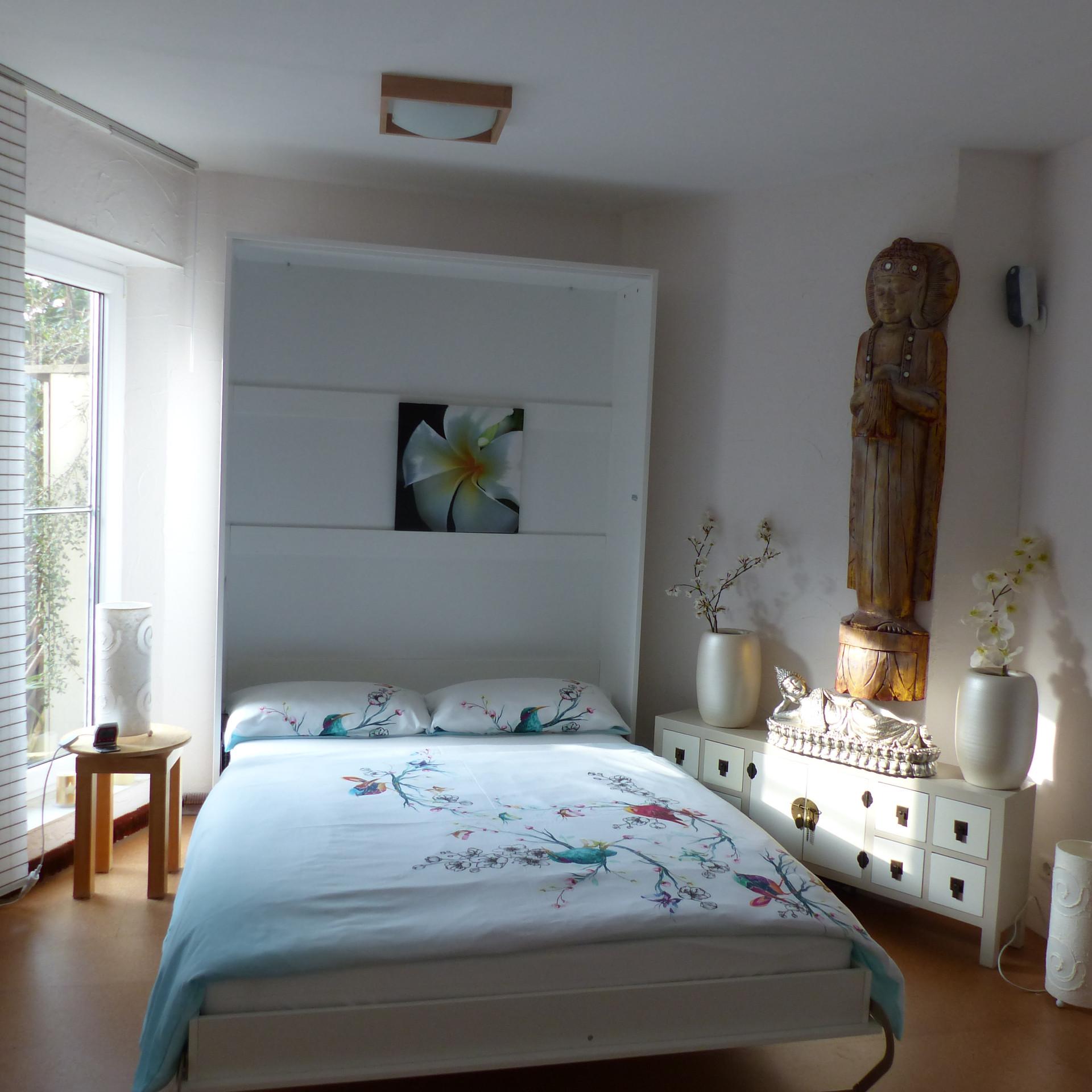 Schlafbereich der Ferienwohnung