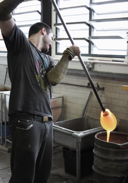 Molten glass and Theo Brooks