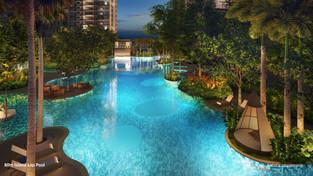 Island Pool Evening