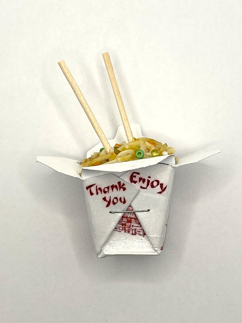 """Veggie or Chickeny"" Chinese Takeout Box Magnet"