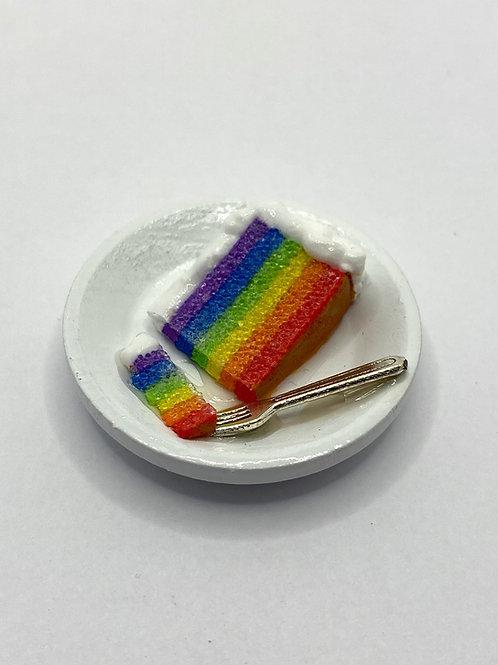 Rainbow Cake Plate Magnet