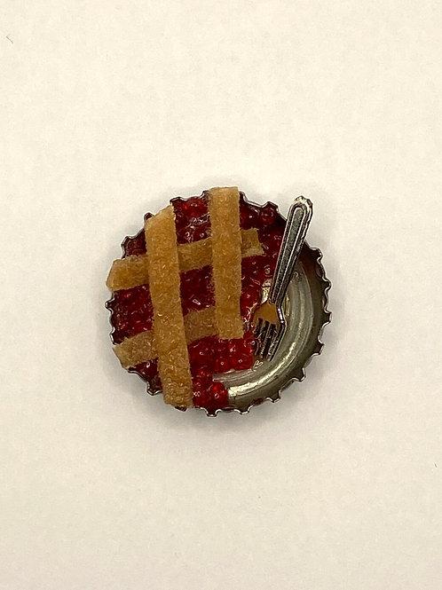 Cherry Pie Half with fork