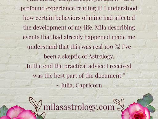 Julia, client review