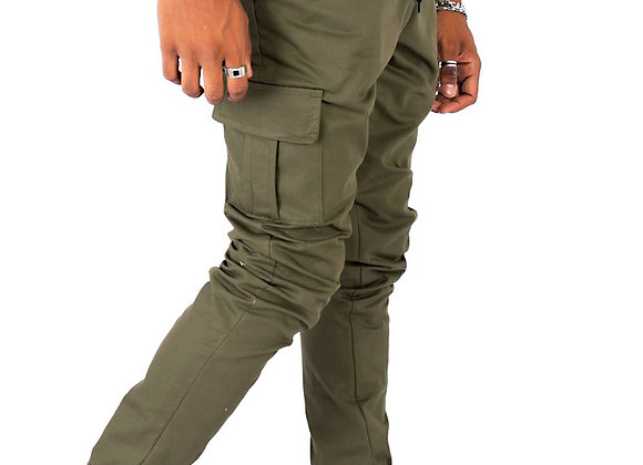 Pantalón Cargo Jogger de gabardina