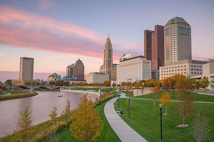 View of downtown Columbus Ohio Skyline a