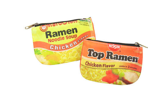A ramen change purse is perfect for your college chef!