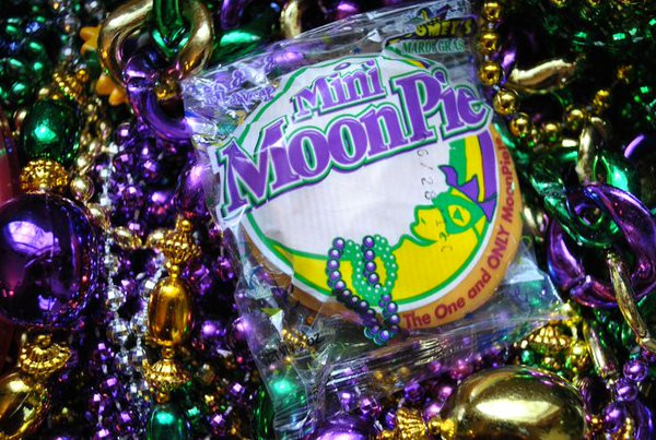 MoonPies are traditional throws at Mardi Gras parades