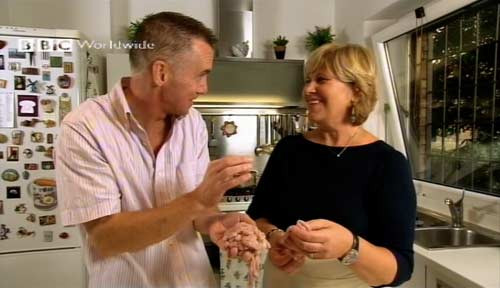 Rhodes Across Italy with Gary Rhodes, showcasing Daniela's Cooking School