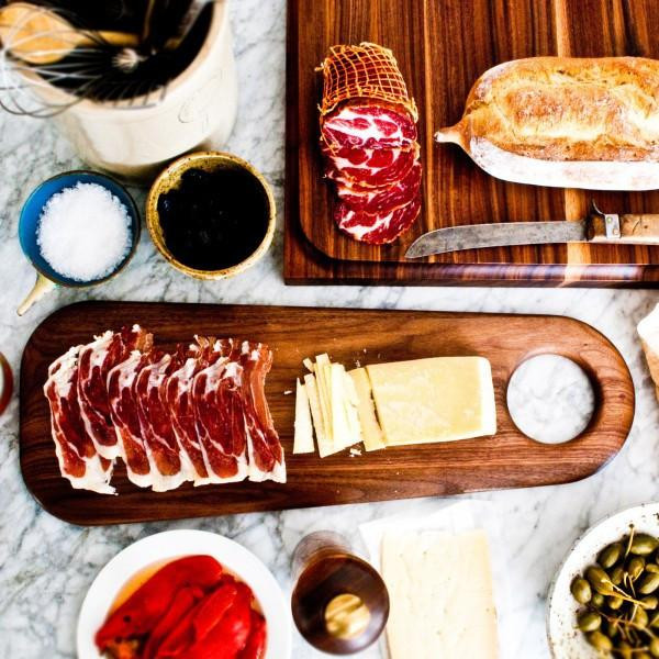 This charcuterie board is so pretty, you can hang it on the wall!