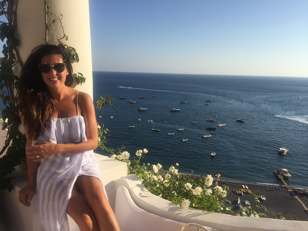 Stephanie in Positano as an adult