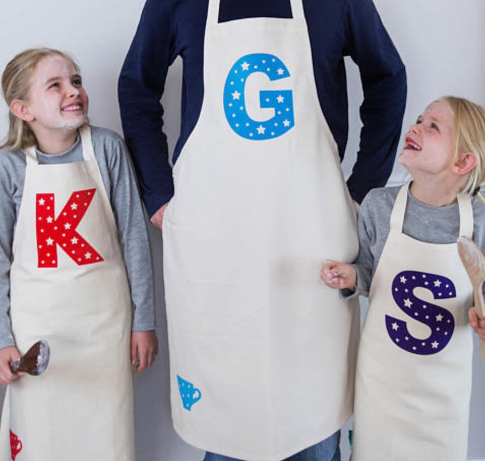 These cute letter aprons will make the kid chef in your life excited to cook!