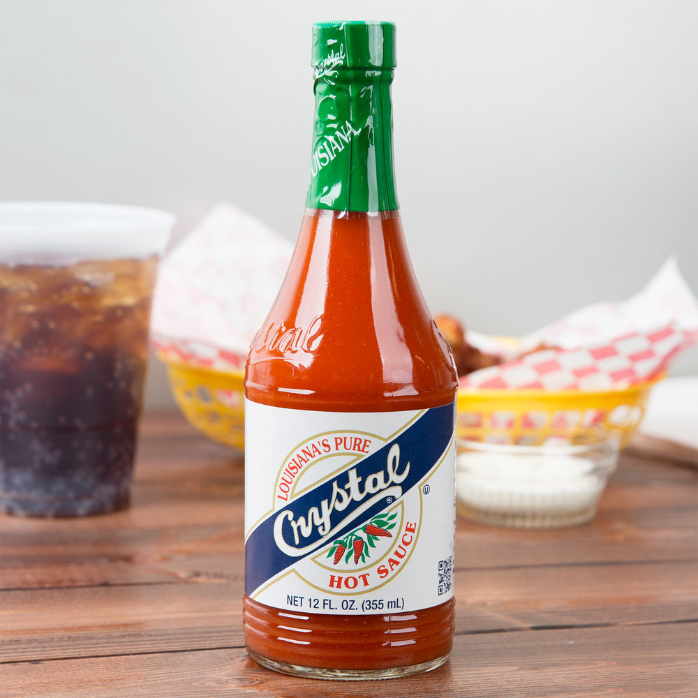 Crystal Hot Sauce is found on restaurant tables throughout New Orleans