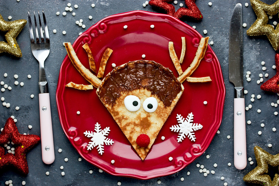 Host Christmas Eve breakfast with these cute reindeer pancakes!
