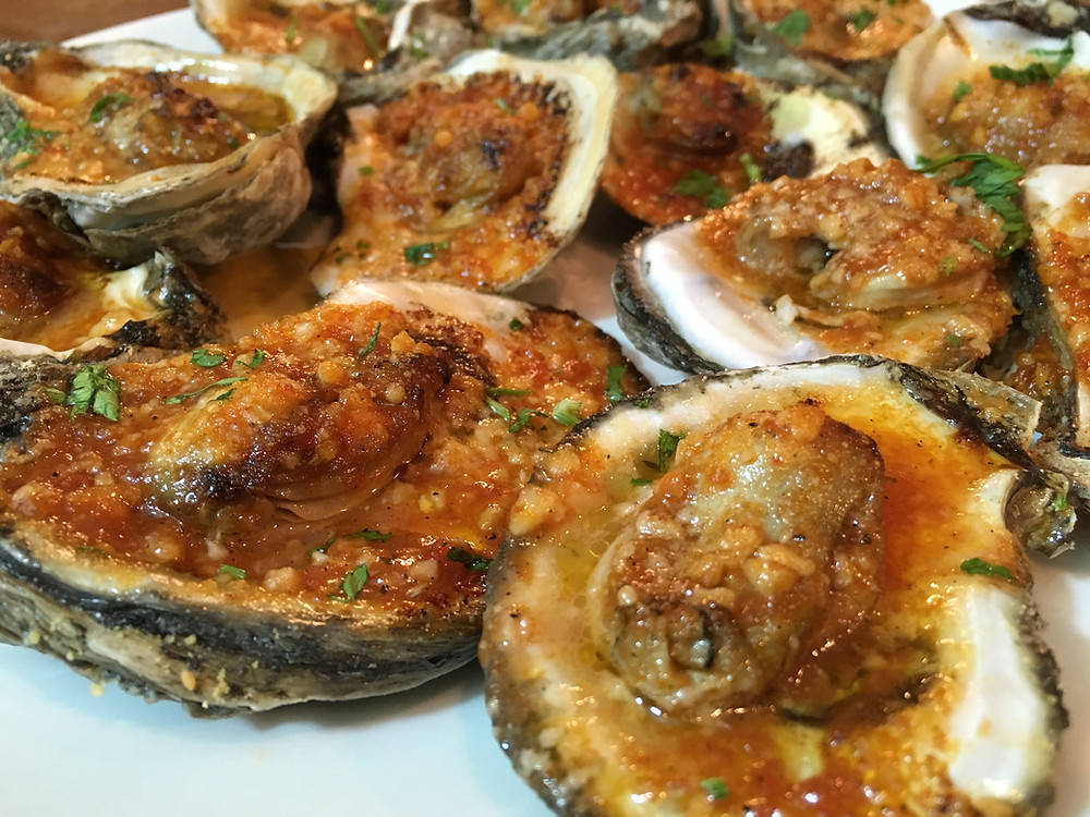 Spicy Grilled Oysters Recipe courtesy of Chef Gason in New Orleans