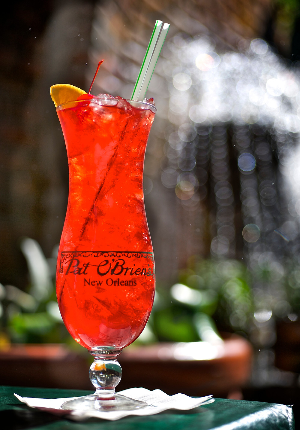 The original hurricane is made with lots of rum, passionfruit juice and fresh lemon