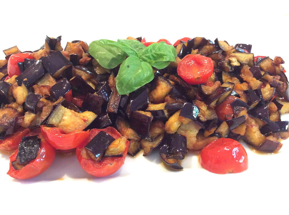 This simple eggplant recipe has met its match with tomato and basil!
