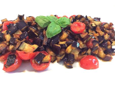Melanzane A Funghetto Recipe: Eggplant meets Tomato and Basil Heaven.