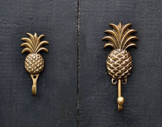 Hang those aprons on these cute pineapple door hooks