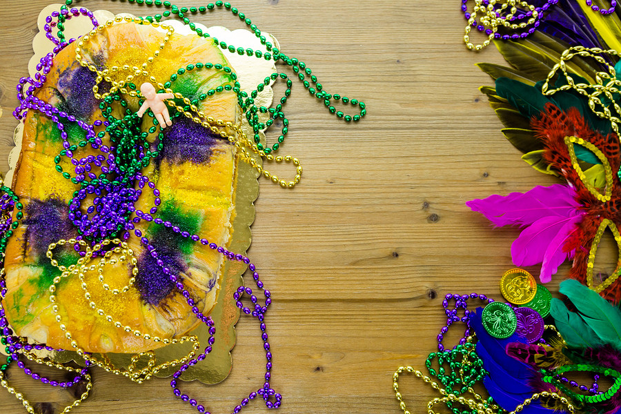 The King Cake is an essential Mardi Gras treat