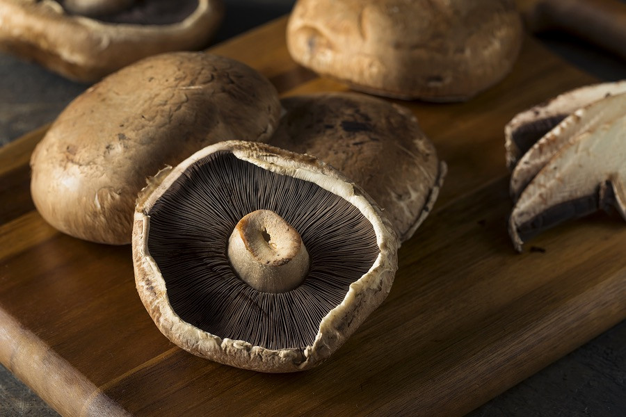 Portabello mushrooms are best grilled