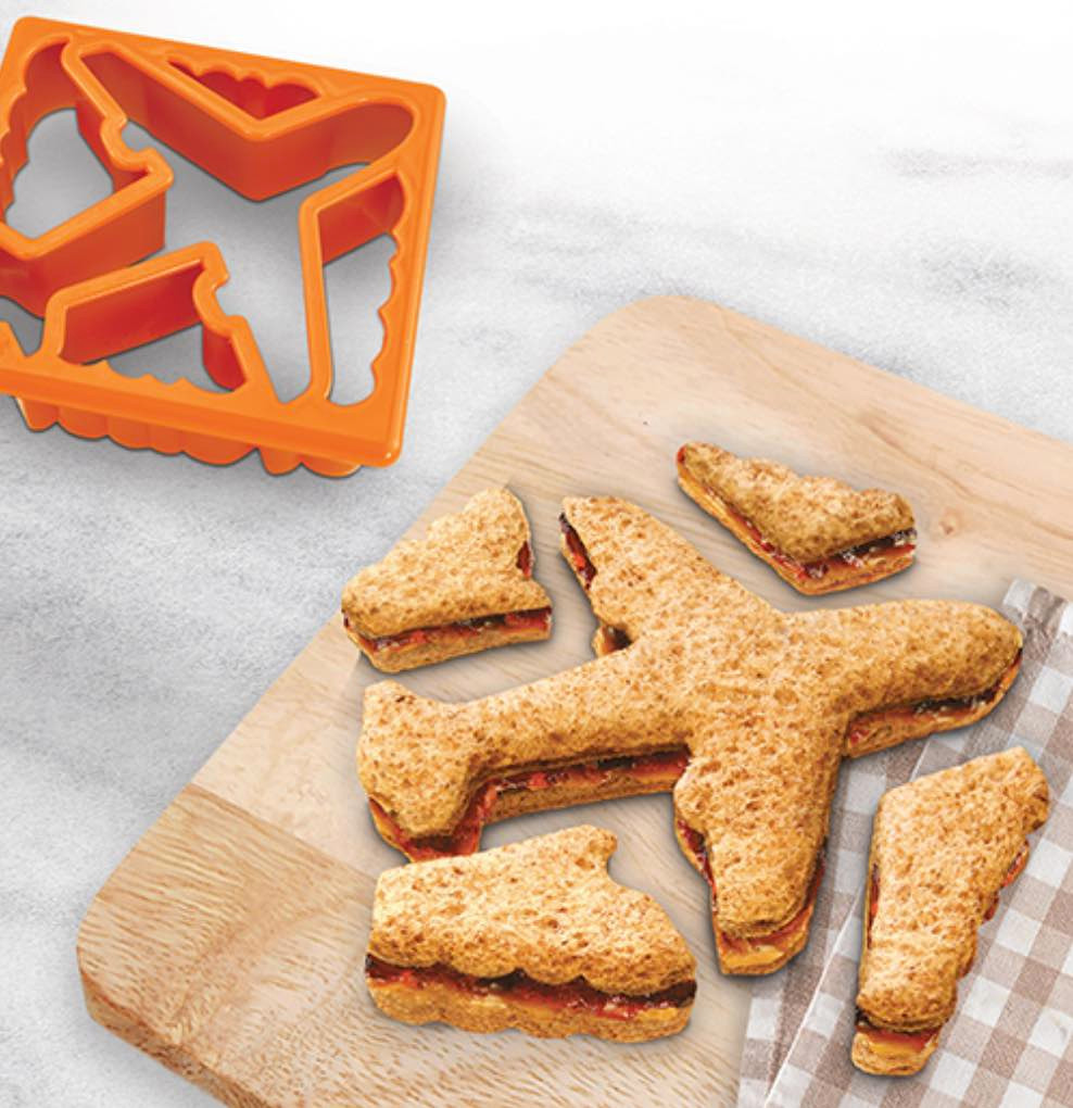 These sandwich cutters will get the kids excited to help make their school lunches