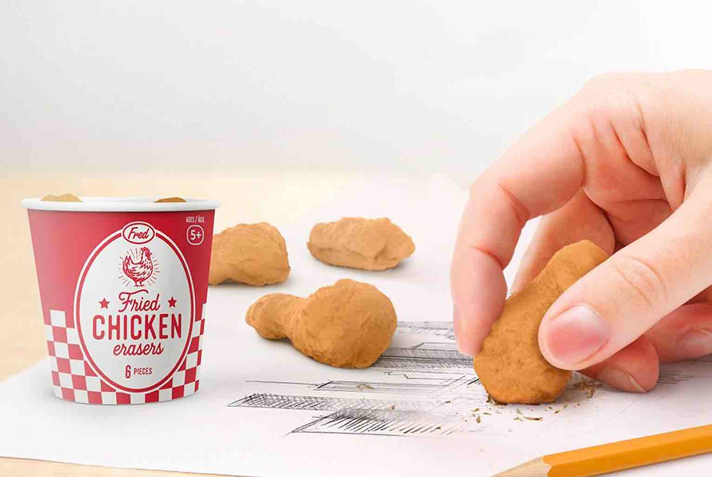Say I Love You with some Fried Chicken Erasers