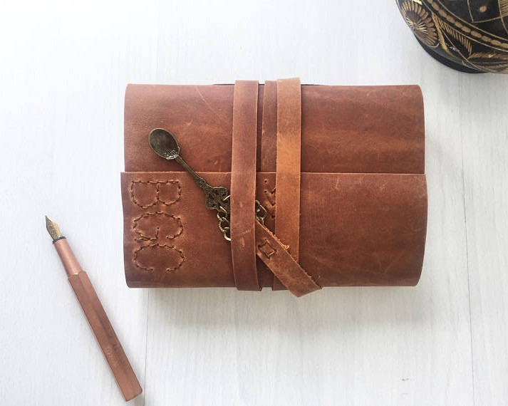 Treasure those family recipes in this leather recipe keeper