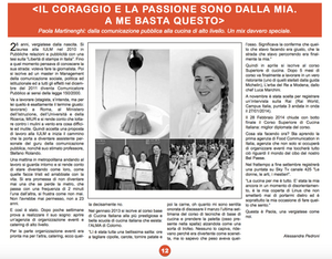 Article in Vergiate featuring Paola's mission to food culture