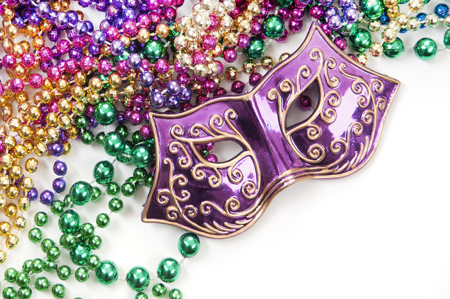 Masks are essential at any Mardi Gras party