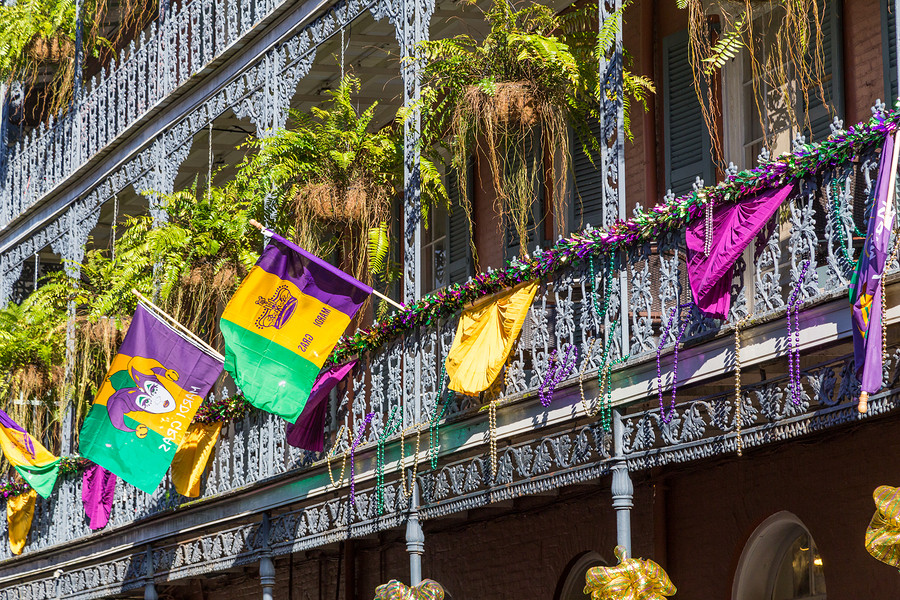 Purple, green and cold all have symbolism at Mardi Gras