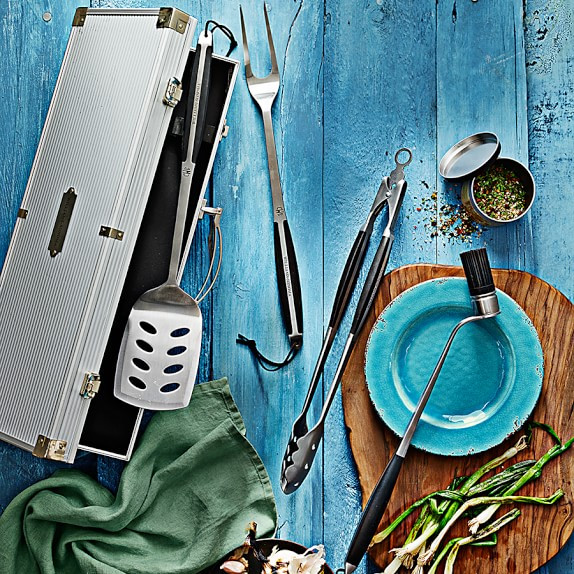 Father's Day Gift Idea for Foodies: BBQ Tool Set from Williams Sonoma