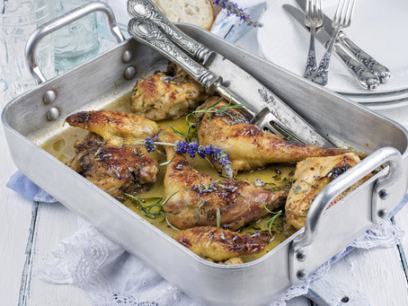 Frenched Chicken with Thyme & Rosemary Jus