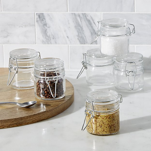 Small spice jars are nice to display and will keep spices fresh