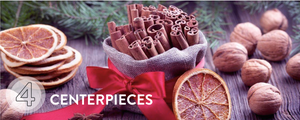 Make your centrepieces celebrate the food - decorate with ingredients you can use after!