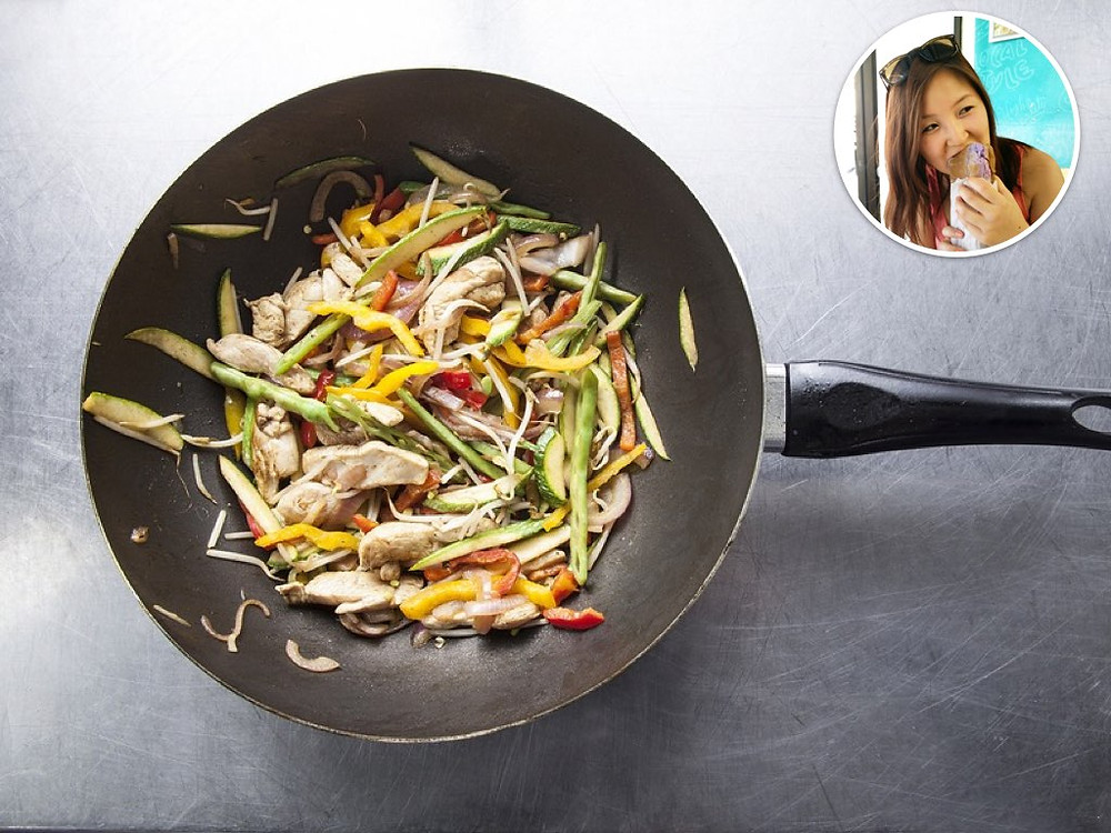 A non-stick wok will help bring your quick-fire dinner together fast