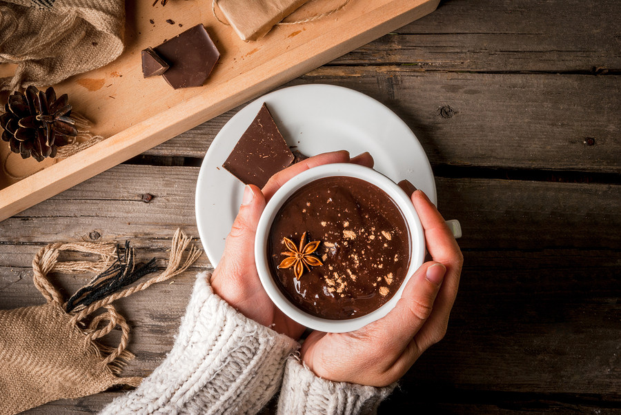 Invite over the friends and make hot chocolate together!