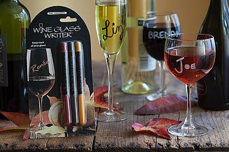 Wine glass markers will make sure you never lose your glass again