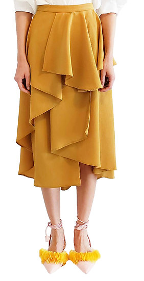 'C001' Crepe layered skirt