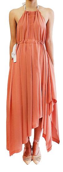 'FD001' Bi-tone halter neck dress