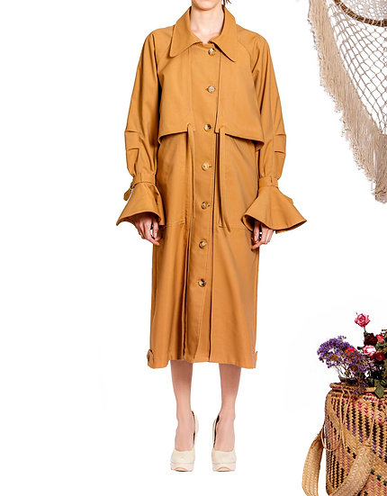 `TC001`Cool max twill trench coat