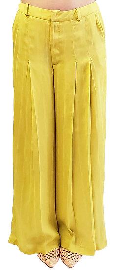 'SA002' Wide tuck satin pants